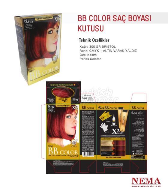 Boîte de colorant de cheveux de BB