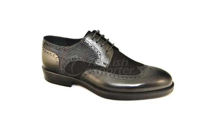 4663 حذاء أسود سويدي