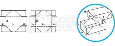 Caixas de tipo telescópio 0303