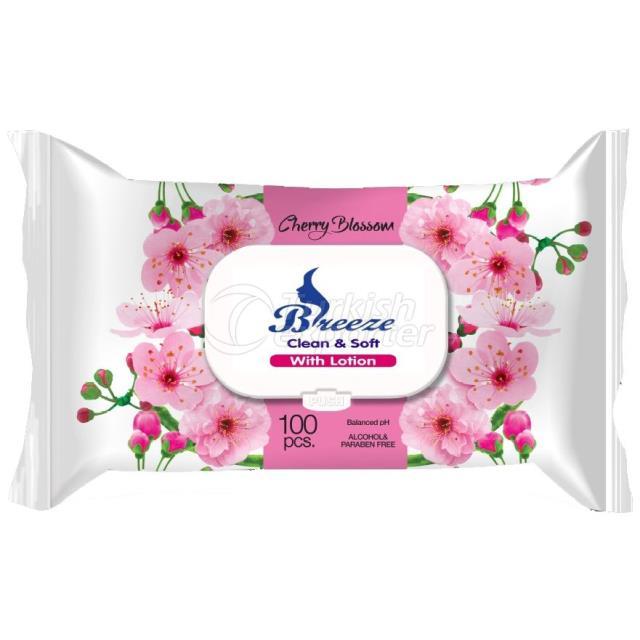 Un1055-Breeze Wet Wipes 100 Pcs Cherry