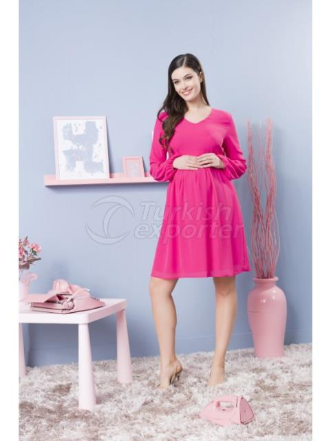 Pregnant V Neck Siphon Abiye Dress