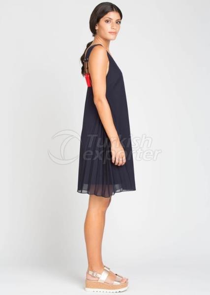 فستان مارلين - أحمر داكن