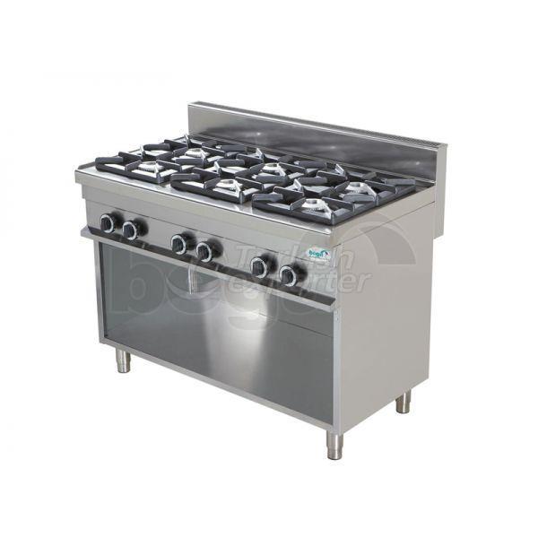Cocina de gas 6 quemadores