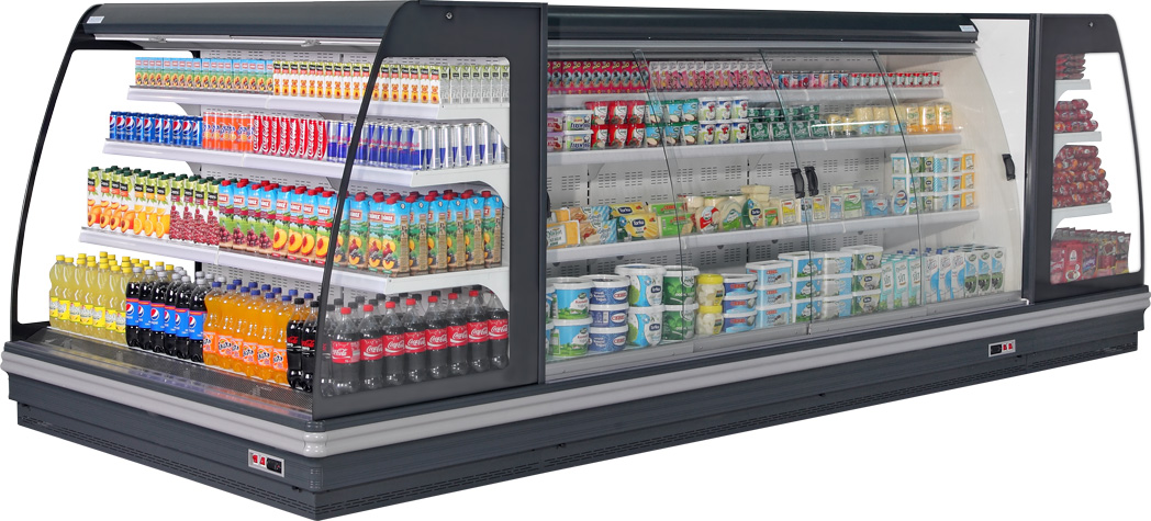 open multideck cabinet