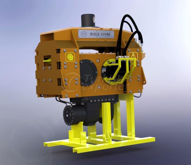 Excavator-mounted Vibratory Pile Drivers