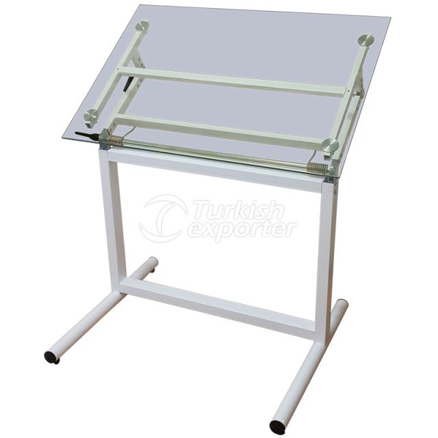 Glass Drawing Table