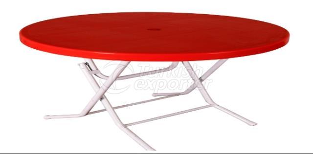 Circular Table Folded