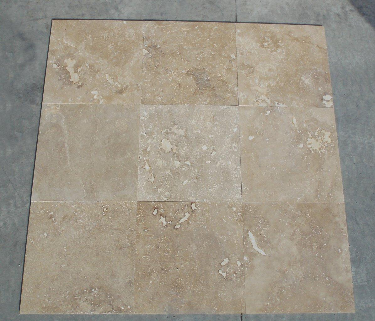Honed and Filled Travertine Tiles