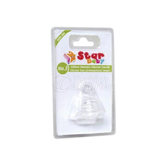 Silicone Teat -Ort. Shape- No.3