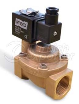 General Purpose High Pressure Solenoid Valves Brass Piston