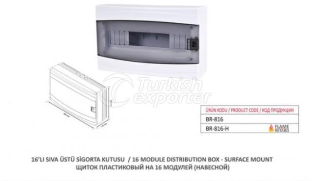16 Module Distribution Box-Surface Mount