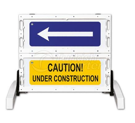 Foldable Traffic Sign Barricades  12501 FB R