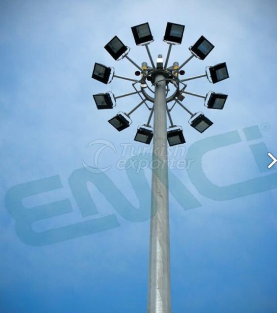 Poteaux de projecteurs d'ascenseur