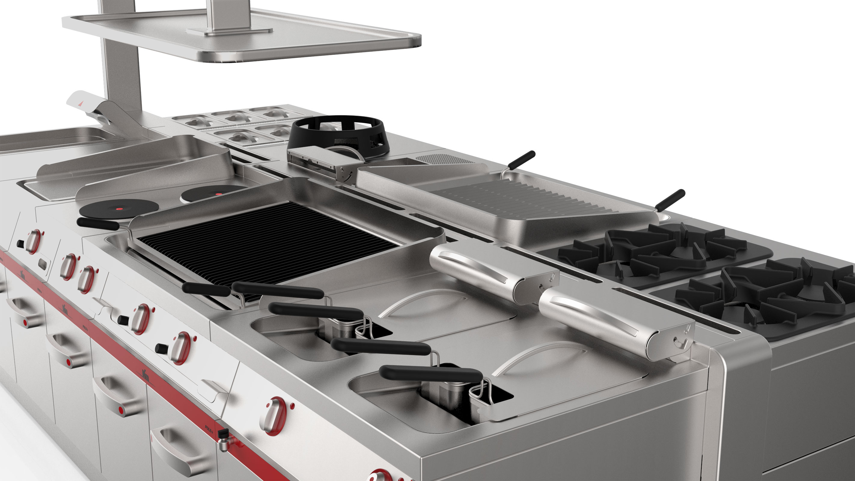 Commercial Kitchen island cooking
