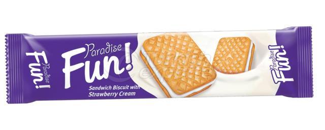 Paradise Fun Sandwich Biscuit with Vanilla Cream