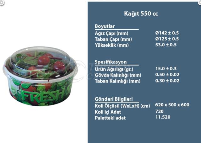 Paper Container 550 cc