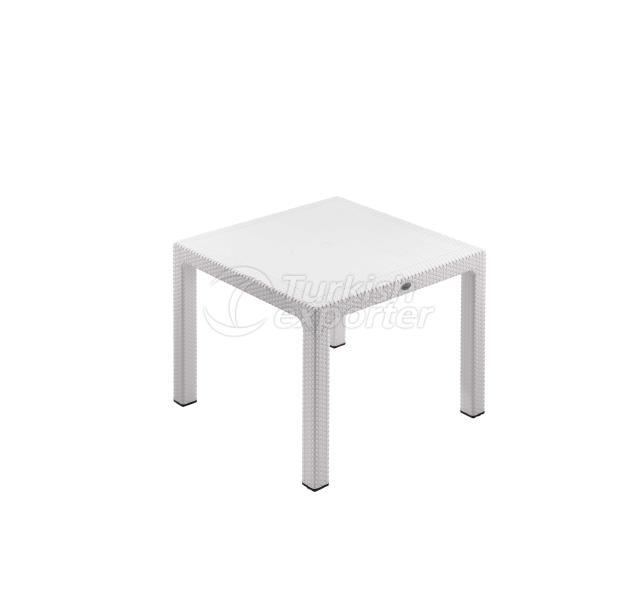 Classi Rattan 90x90 Table White