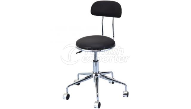 Clinic Stool With Backing