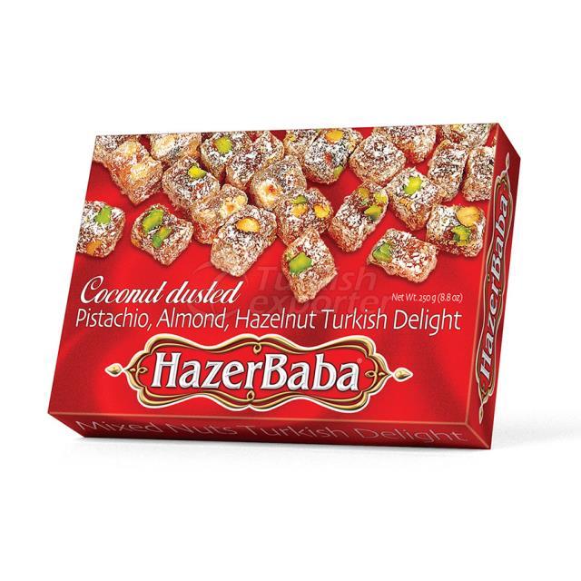 Pistachio, Almond, Hazelnut, Coconut Turkish Delight