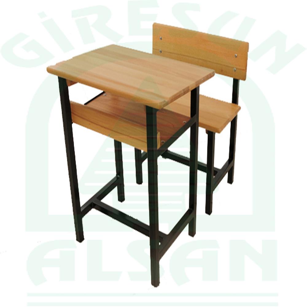 Single Classic Type Wooden School Desk