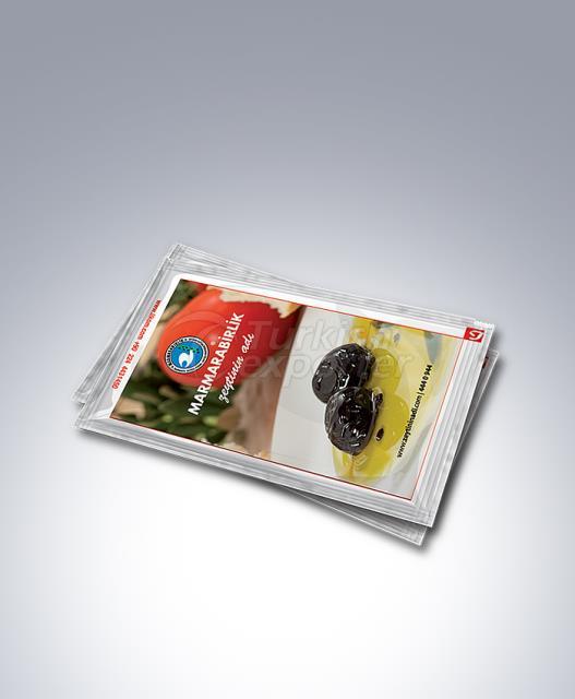 Toalhetes descartáveis impressos 6x8