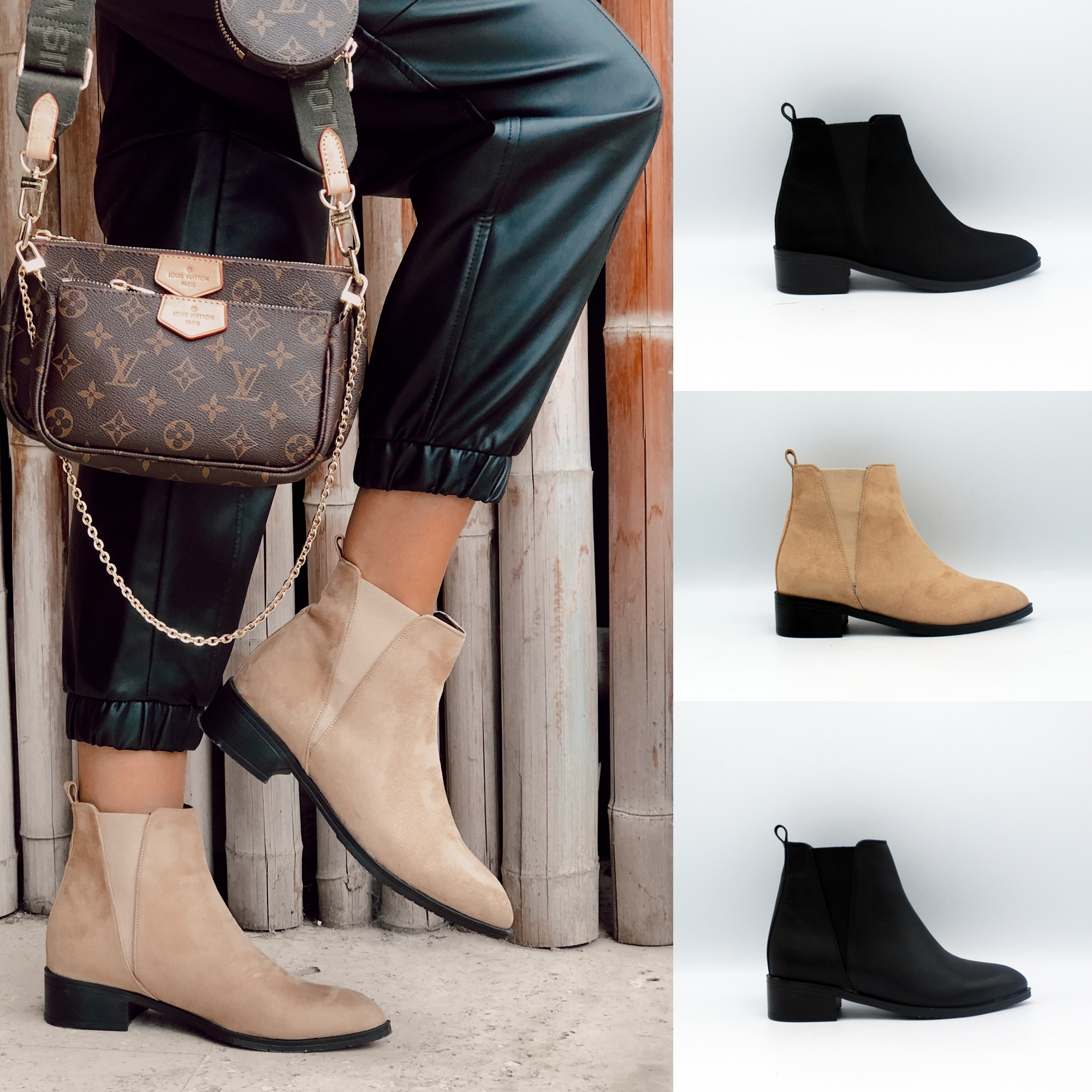 Low Heel Women Stylish Boots Footwear
