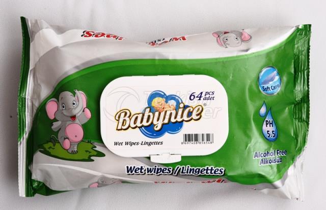 Baby Nice 64 Pcs Wet Wipes