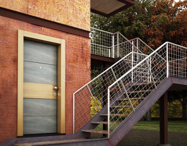 EXTERIOR SECURITY STEEL DOOR