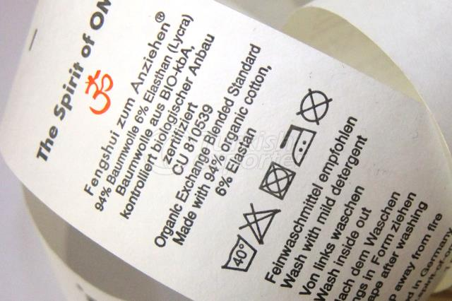 Tyvek Printed Fabric Label