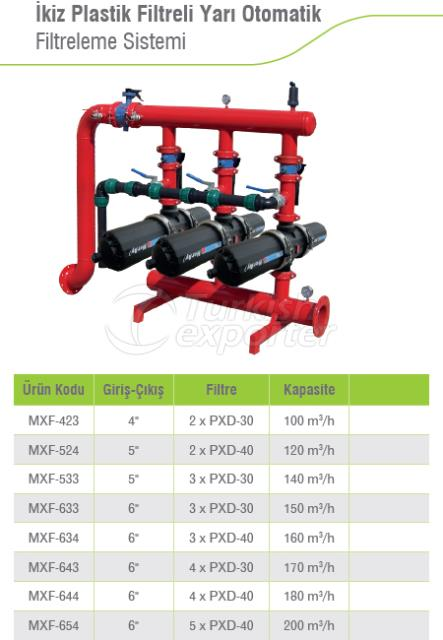 Semi-Automatic Filtration System with Twin Plastic Filter
