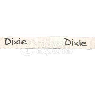 Etiqueta impresa Dixie