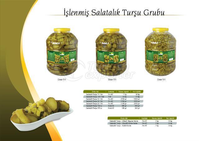Slited Gherkin Pickles