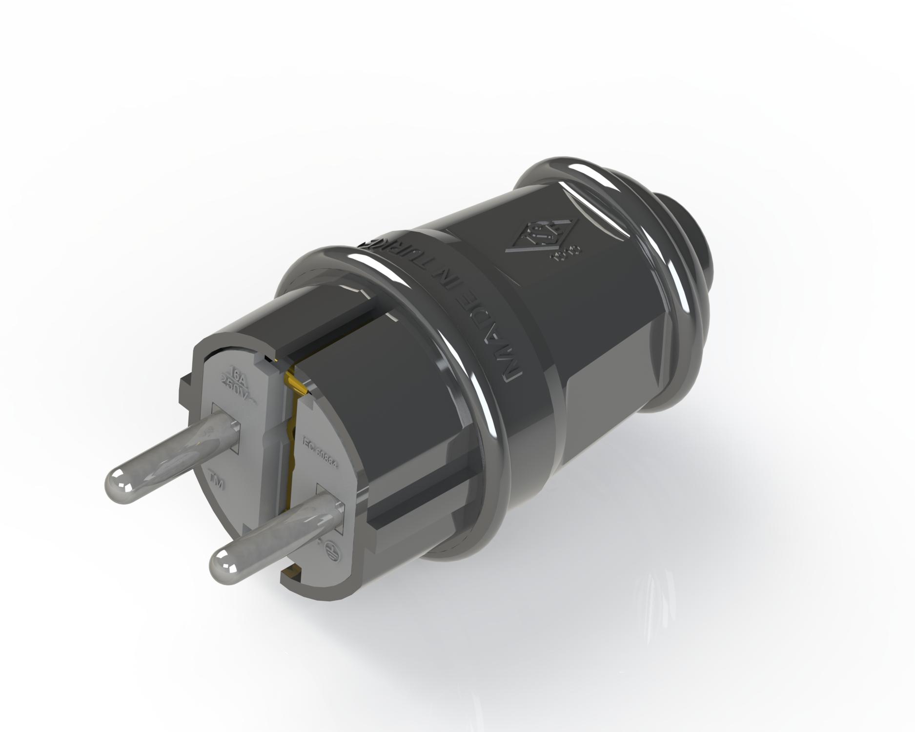 1*16 A Earthed Plug Eco / 4000