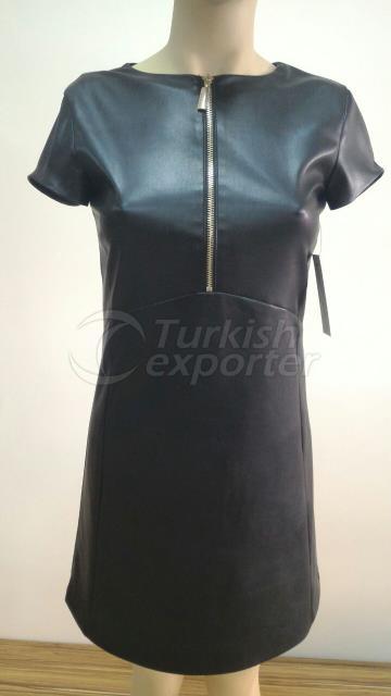 Mango zipper PU dress