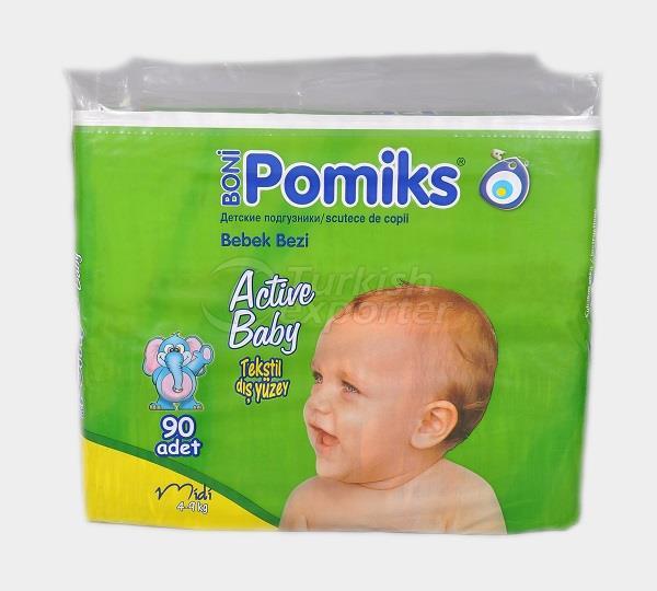 Baby Diaper POMIKS ACTIVE 3 JUMBO MIDI