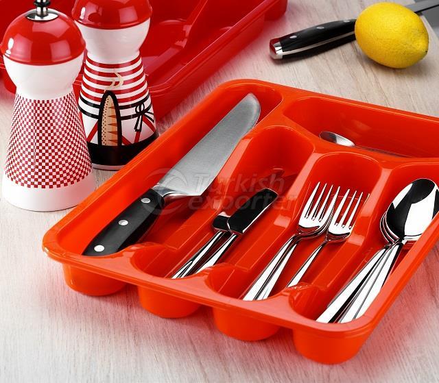 Cajón de cuchara de plástico de tamaño pequeño