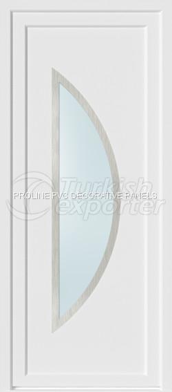 Paneles de puerta de PVC Inox 20004