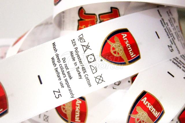Sateen Printed Fabric Label