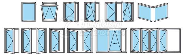 Puertas de aluminio 54T Windows