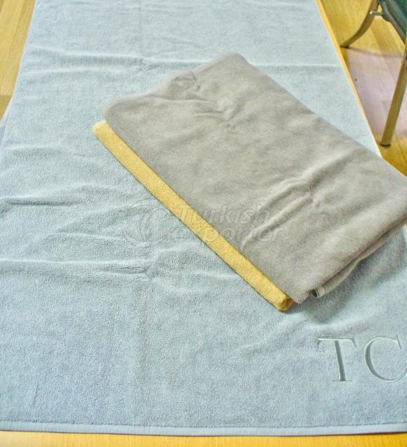 Indanthrene dyed hotel towels.