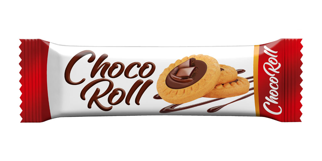 Roll Cookies with Cocoa Cream Topping