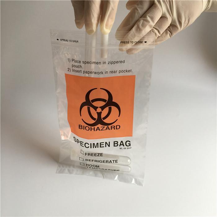 medical ziplock autoclave biohazard specimen bags
