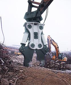 Excavator Mounted Pulverizer Crusher