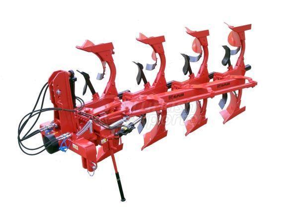Arado hidráulico reversível de mouldboard