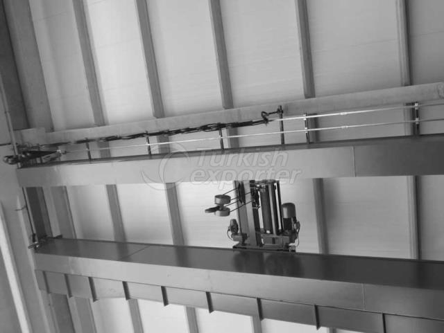 Guindastes de ponte de viagem para cima
