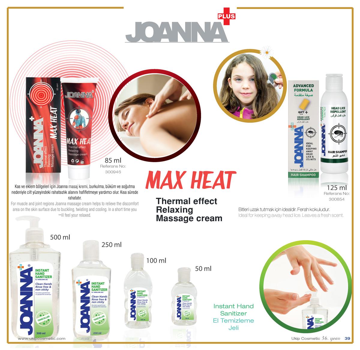 Joanna Max Heat ,, Hair Lice Repellent Shampoo Joanna  ,, Instant hand sanitizer Joanna