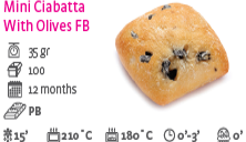 Mini Ciabatta With Olives