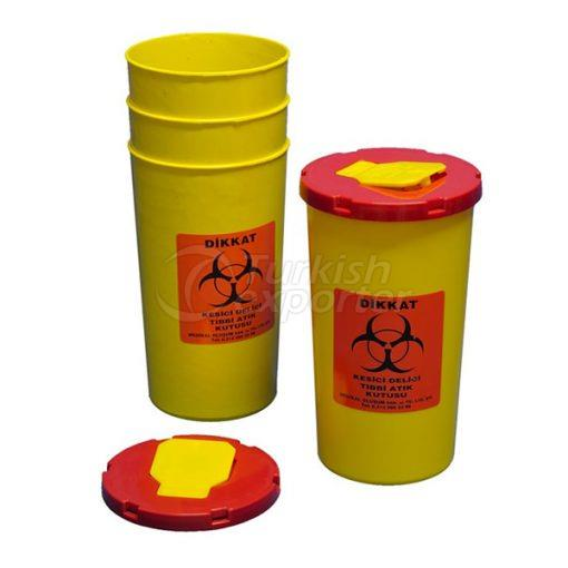 0.7 LT Medical Waste Container