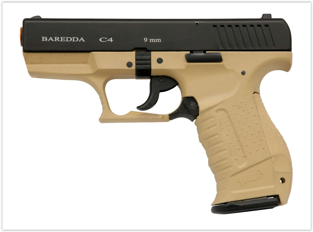 Blank Pistol- Baredda-C4 Desert-Black