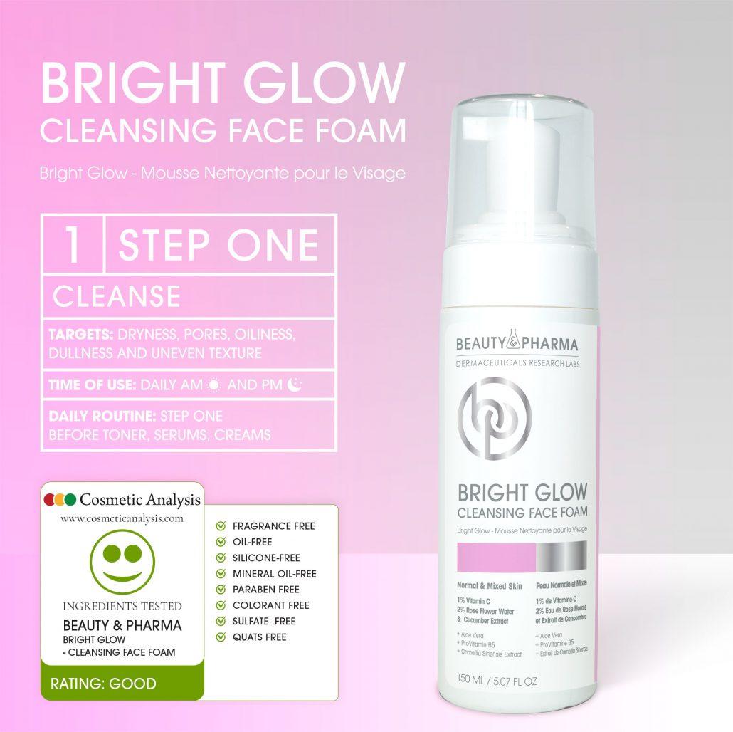 BRIGHT GLOW CLEANSING FACE FOAM